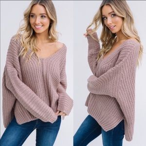 LISTICLE BRAND CHUNKY PULLOVER SWEATER IN TAUPE